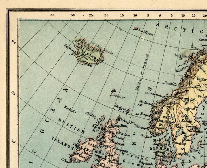 northwest europe map