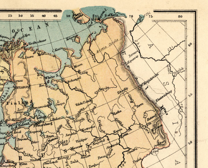 northeast europe map