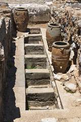 ancient pots and storage pits at Knossos, Crete